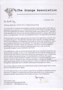 Chair letter to Ian Perry