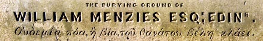 β - Menzies inscription